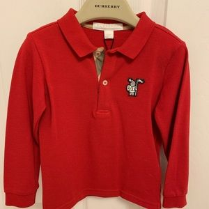 Burberry boy's long sleeve polo -2Y (NEW WITH TAG)